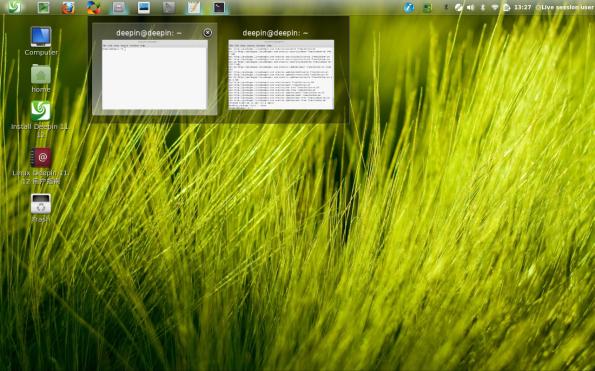 Deepin Linux screenshot, captura de pantalla de Deepin Linux