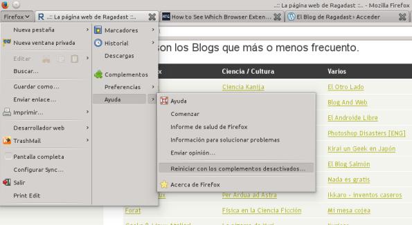 modo seguro Firefox