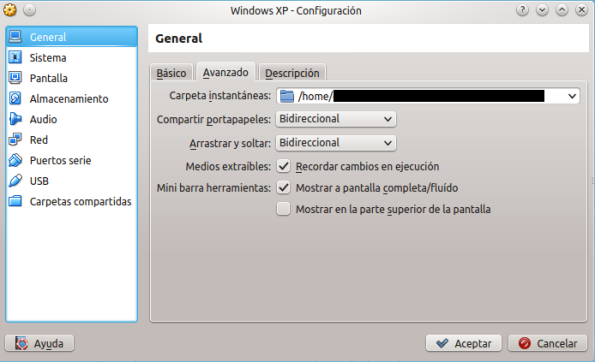 VirtualBox portapapeles compartido