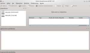 Gestor Particiones KDE